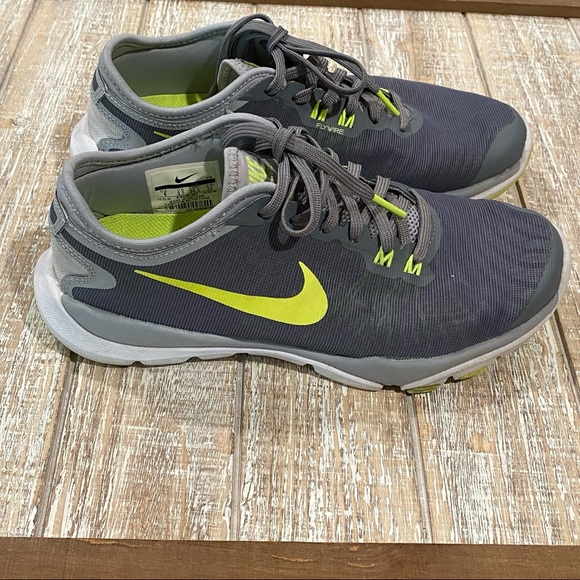 Nike Shoes | Nike Flywire Grey Neon